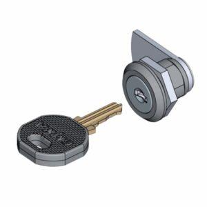 Поворотный замок с цилиндром, малый типоразмер
