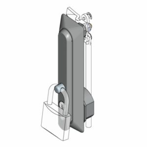 Ручка с откидным клапаном для навесного замка
