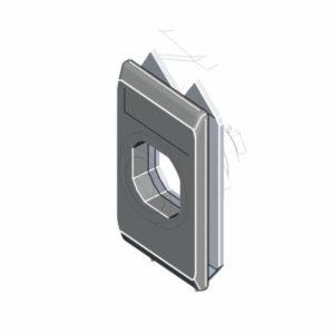 Замочная накладка для поворотных замков, ассортимент 1000