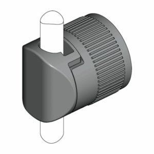 Направляющая для круглых тяг 8 мм для быстрой сборки