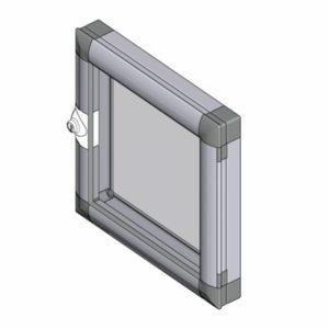 Накладное окно: створка с рамой 1210
