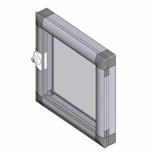Накладные окна 1210, оконные створки 1220